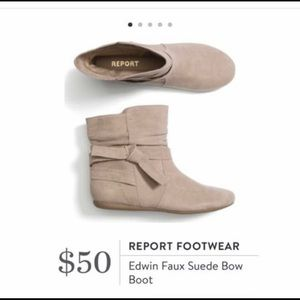 Report Faux Suede Boot